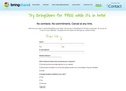 BringShare on Prefinery