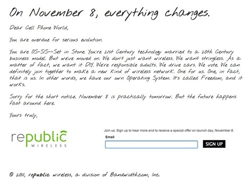 Republic Wireless on Prefinery